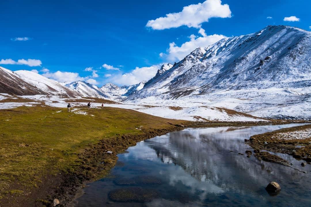 Photos Of Kyrgyzstan altyn-arashan-mountain-reflection