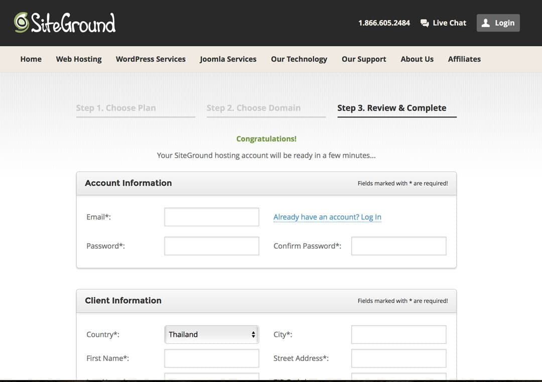 How To Start A Travel Blog Siteground Step 4