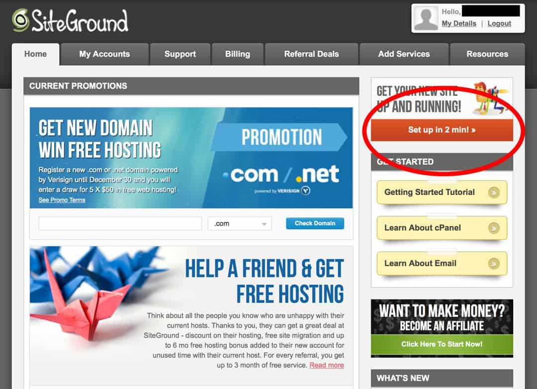 How To Start A Travel Blog Siteground Step 6