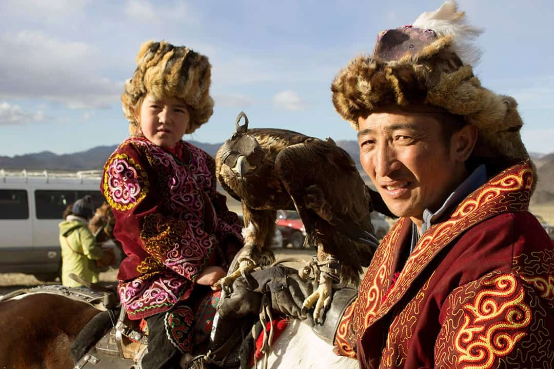 Family Mongolian Golden Eagle Festival