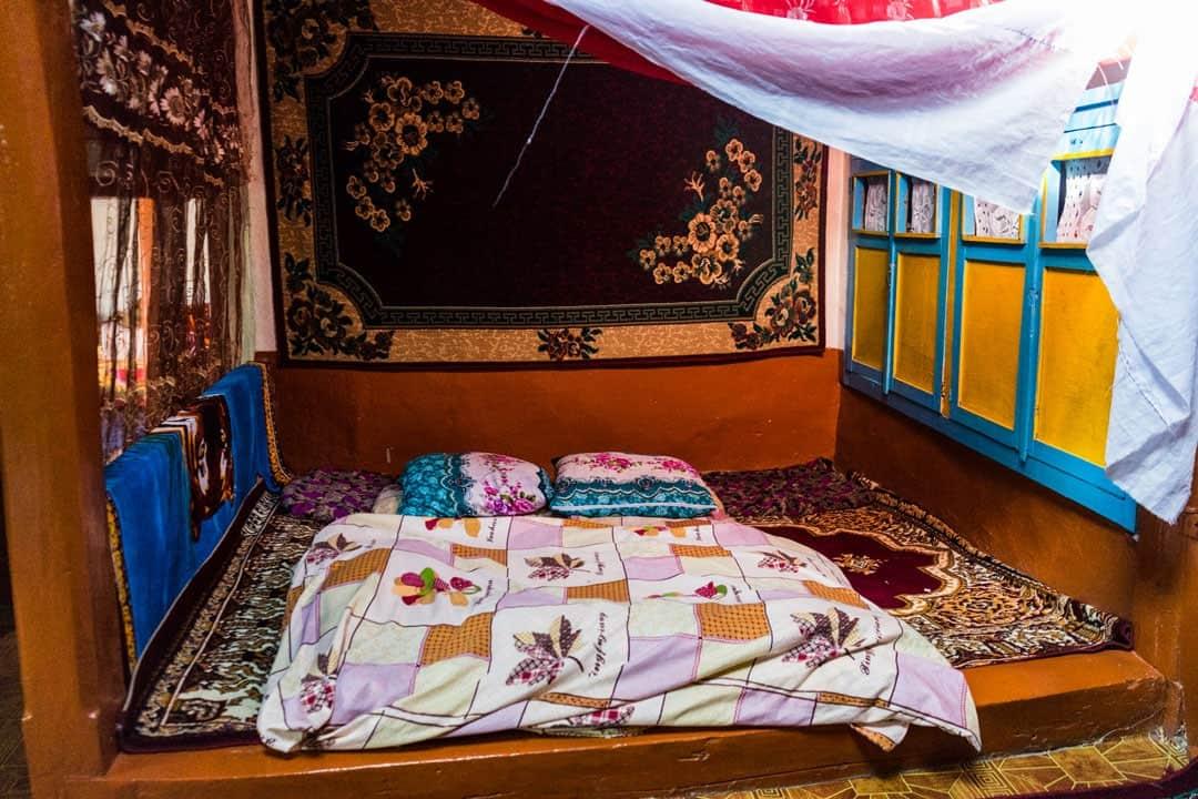 Bed Yamchun Pamir Highway Adventure