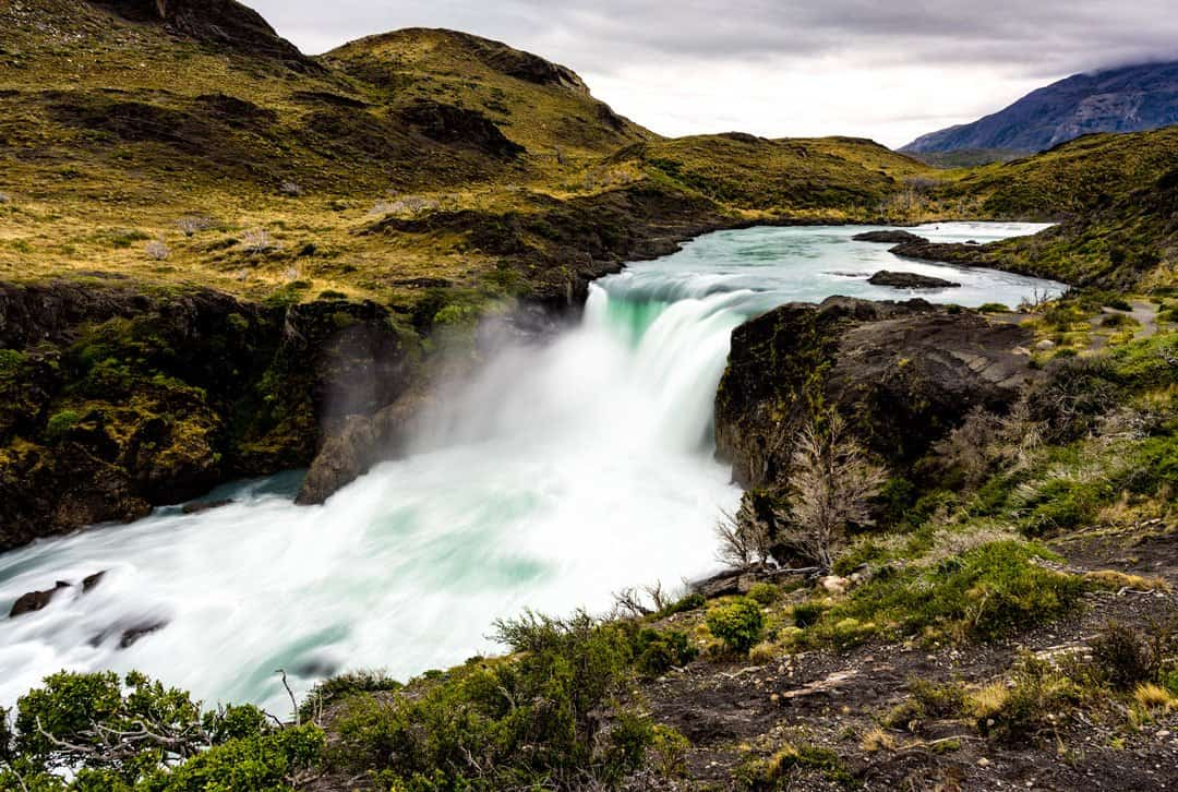 Salto Grande Waterfall Torres Del Paine